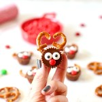 Here's one of the cutest holiday treats! Reese's Reindeer are so easy to make and have that salty sweet combo everyone loves!