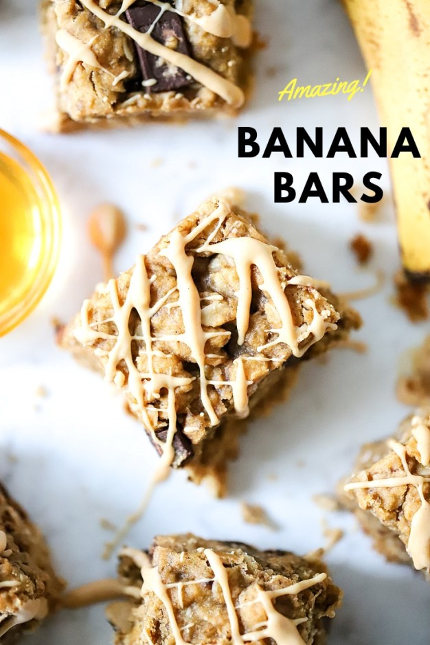 Easy Banana Bars with oats are the perfect way to enjoy a healthy breakfast or snack!  Real food and real flavor! One bowl and one pan are all you need. #suburbansimplicity #oatmealbars #baking