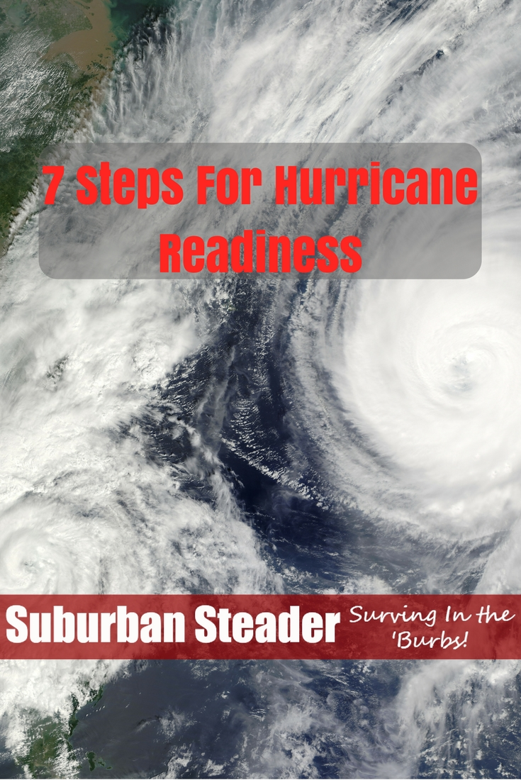Hurricanes are one of the major things I prep for given my location. Here's seven ways you can get ready for them.