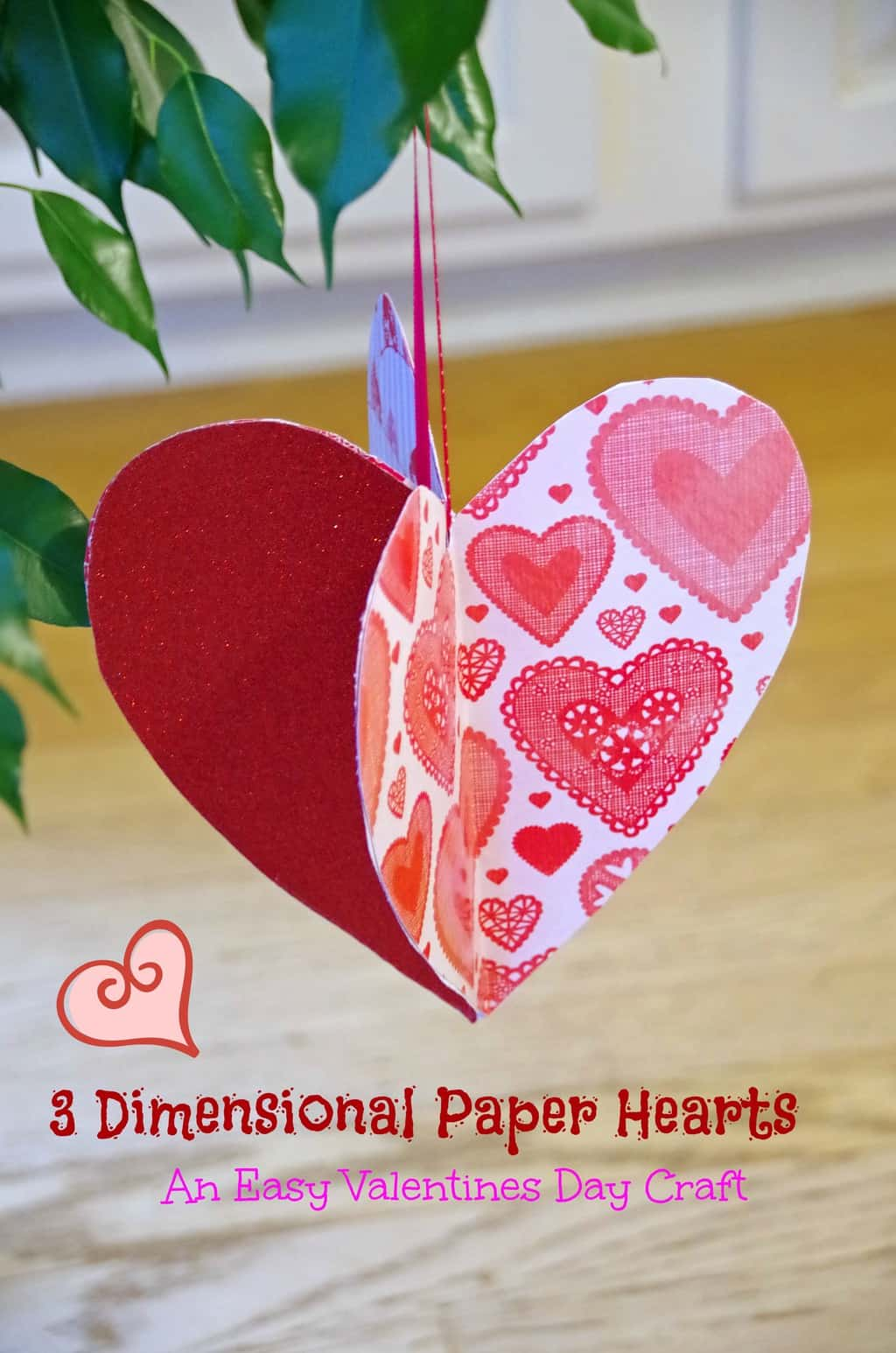 Easy Valentines Day Craft Idea Make 3d Paper Hearts