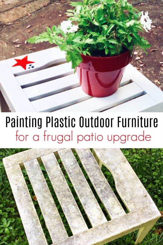 spray painting plastic outdoor