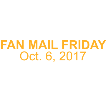 Thumbnail for Episode 192: Fan Mail Friday: October 6, 2017