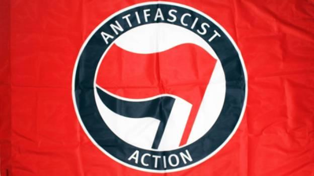 Red and Black Antifa Flag