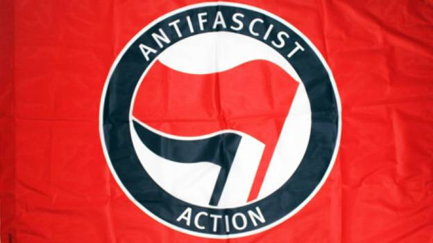 Red and Black Antifa Flag