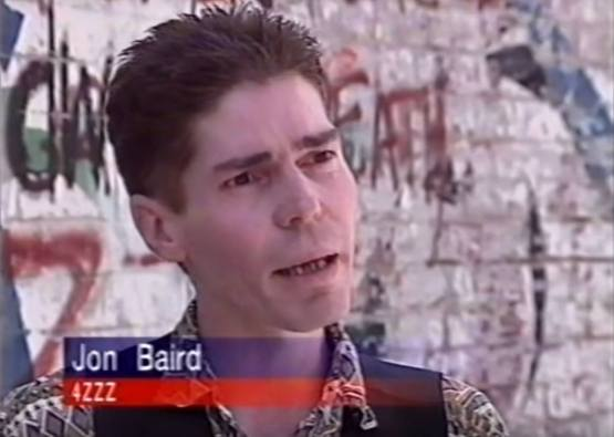 Jon was the media spokeperson for 4ZZZ after the Cybernana Market Day in 1996 ended in a riot.