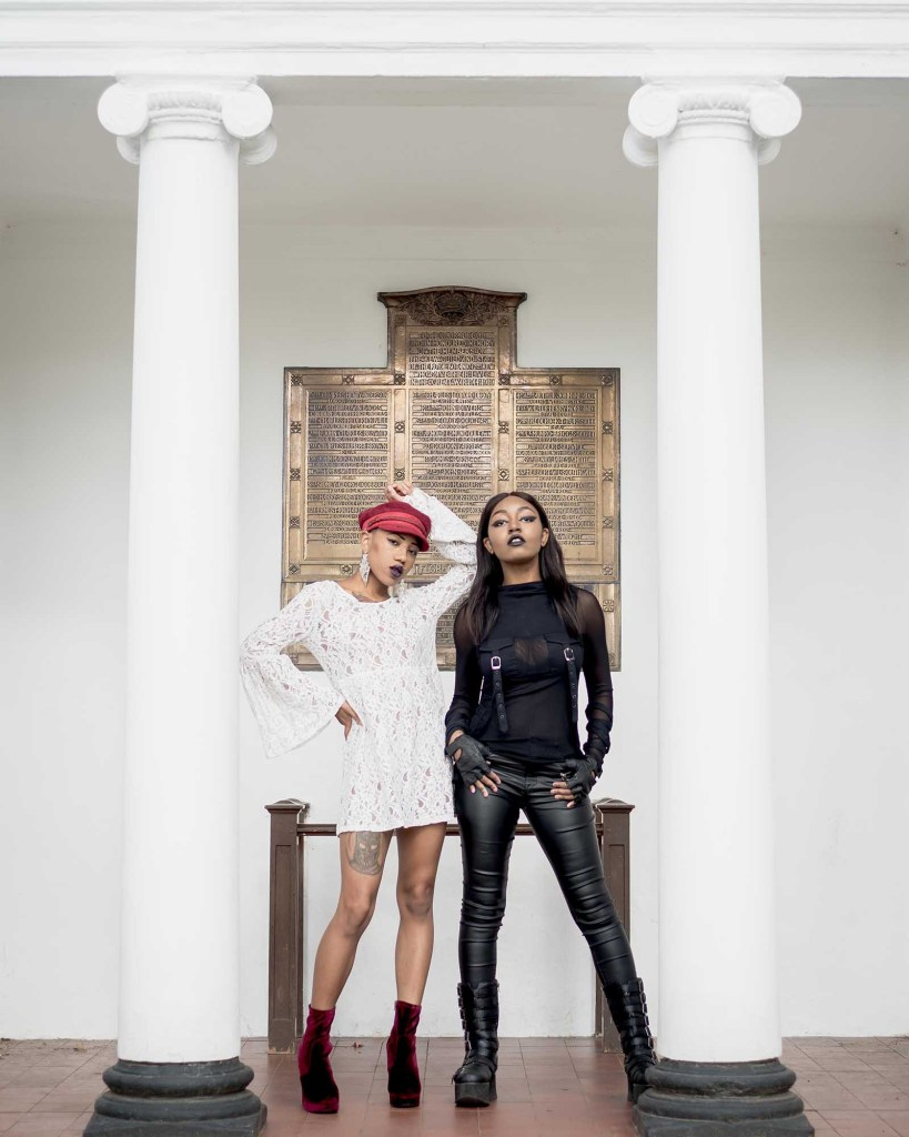 Female models featured in a fashion editorial.
