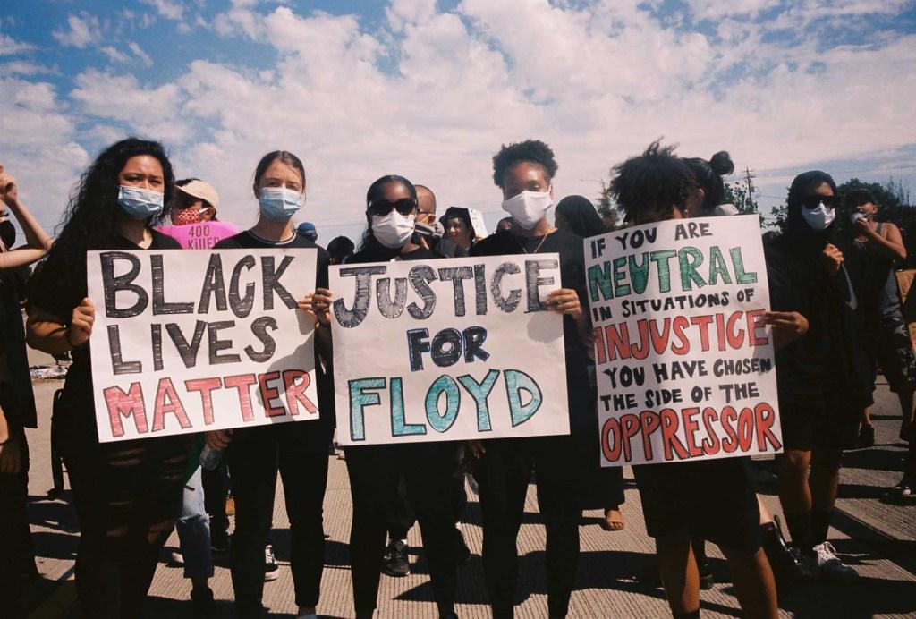Black Lives Matter protest white ally
