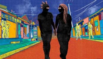 Queer couple walking through Nairobi Kenya