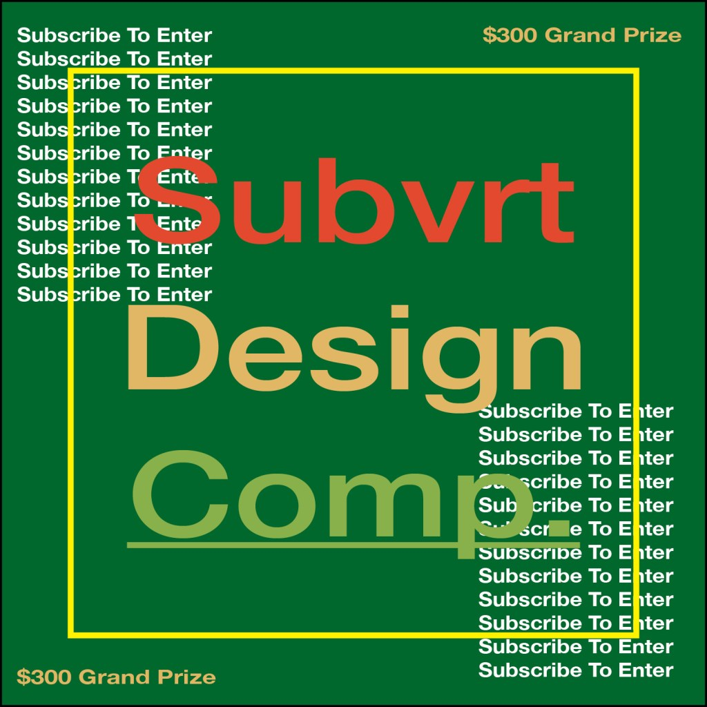 Subvrt Design Competition Flyer