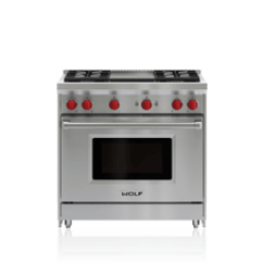 Kitchen Stoves Aid Artisan Mixer Gas Ranges Wolf Appliances 36 Range 4 Burners And Infrared Griddle
