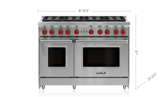 kitchen stoves home depot packages 48 inch gas range eight burners convection oven wolf appliance