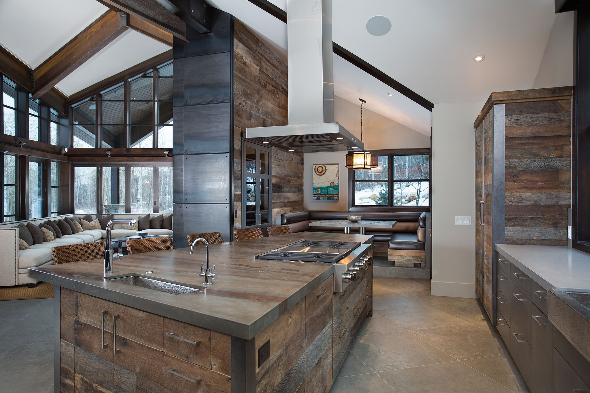 MOUNTAIN Contemporary  SubZero Wolf and Cove Kitchens