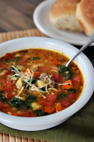 Tuscan Sausage and White Bean Soup
