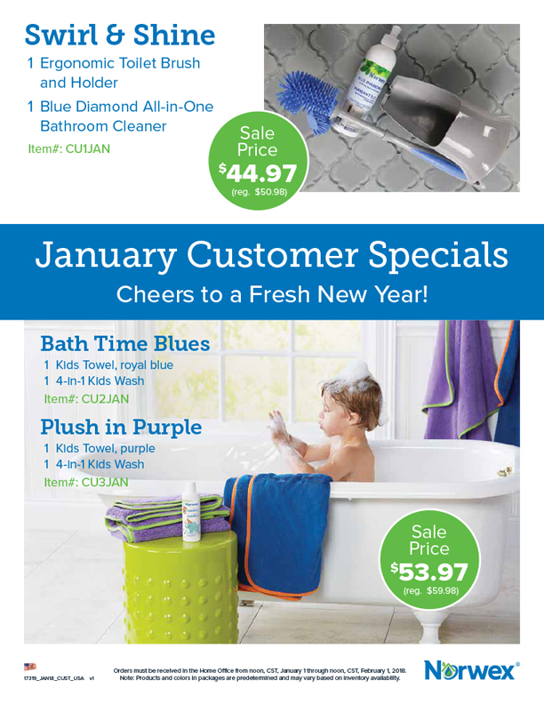 January 2018 Norwex Customer Specials