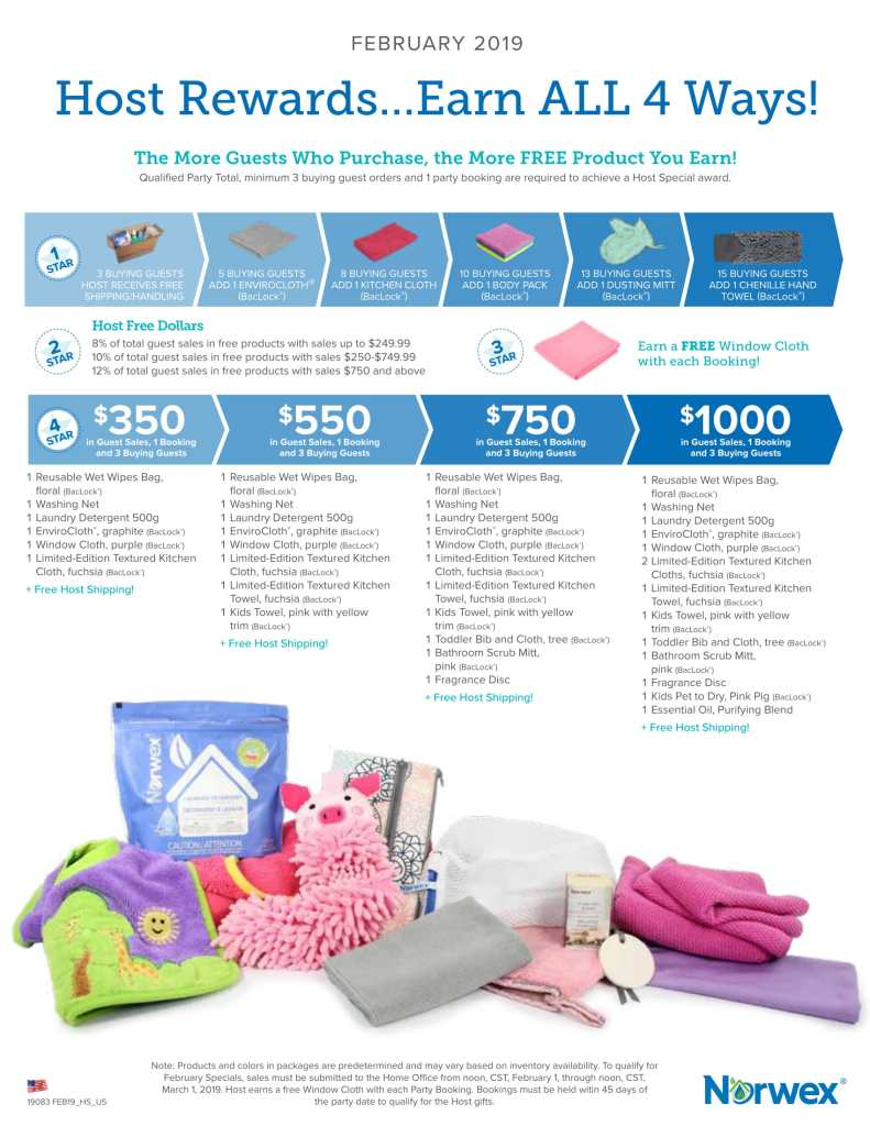 norwex, hostess special, february 2019,