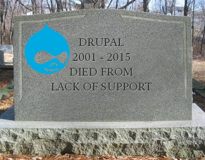 Drupal's tombstone