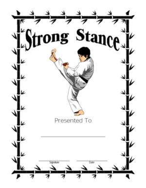 Strong Stance Certificate