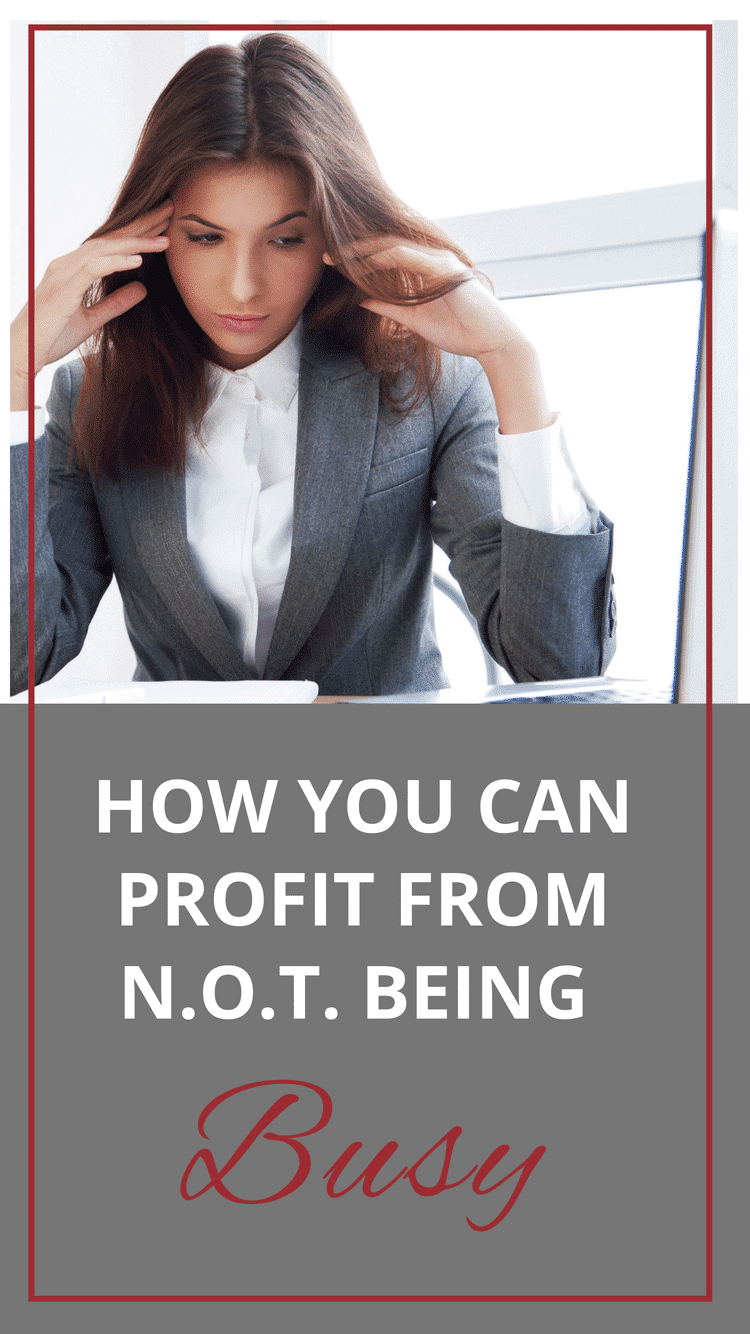 Busy work is often disguised as productive work, but it doesn't generate a money-making or vital outcome. And, like eating junk food, it feels good for a bit and it doesn't give you the satisfied feeling of eating a real meal.