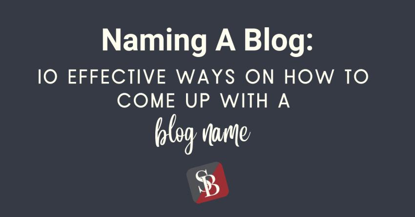 naming a blog