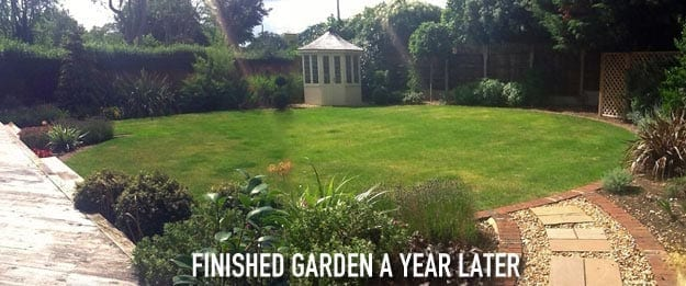 large square garden makeover case study