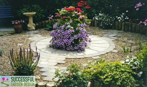 Small garden design awkward shape gardens for Successful garden design