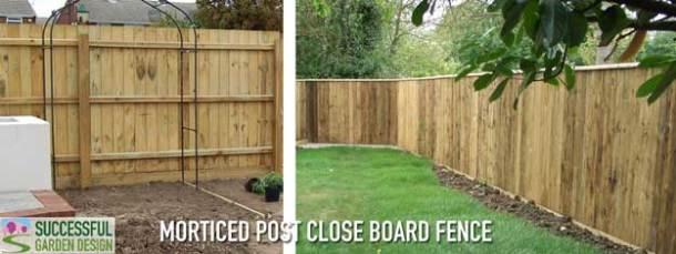 Morticed-post-close-board-fence