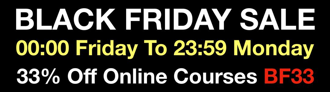 Black Friday Sale 33% Off