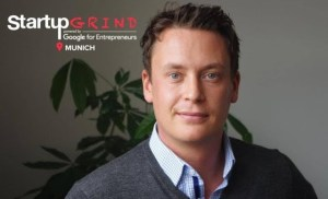 Finn Age Hänsel (Movinga) at Startup Grind Munich