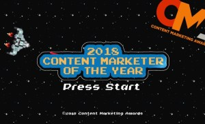 2018 Content Marketing Awards – Content Marketer of the Year