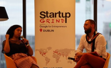 Áine Mulloy (GirlCrew) at Startup Grind Dublin