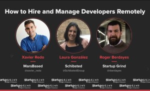 Xavier Redo, Laura González and Roger Berdayes @ Startup Grind BCN Conference 2018