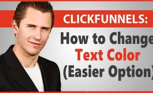 ClickFunnels: How to Change Text Color (Easier Option)
