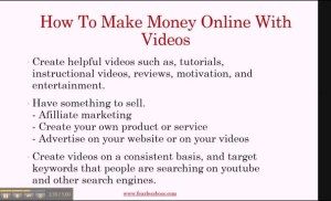 How To Make Money Online With Video Marketing