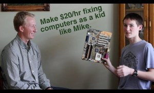 Make $20/hr Fixing Computers as a Kid- How To Make Money As A Kid