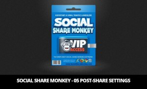 Social Share Monkey – 05 Post-Share Settings