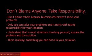You Are The Problem And The Solution