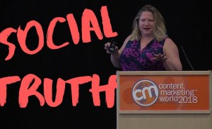 #CMWorld 2018 – Social Truth: Revealing What Truly Matters to Customers –  Liz High