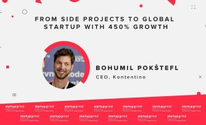 Bohumil Pokštefl (Kontentino) – From side projects to global startup with 450% growth