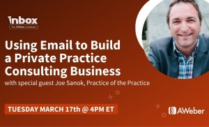 Using Email to Build a Private Practice Consulting Business