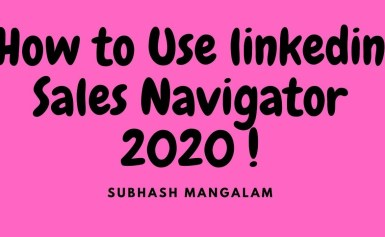 How to Use linked in Sales Navigator |Sales Navigator YouTube Video Training Tutorial Beginners 2020