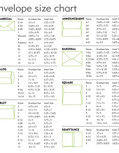 Envelope size chart for website also envelopes success printing and mailing inc norwalk ct rh successprint