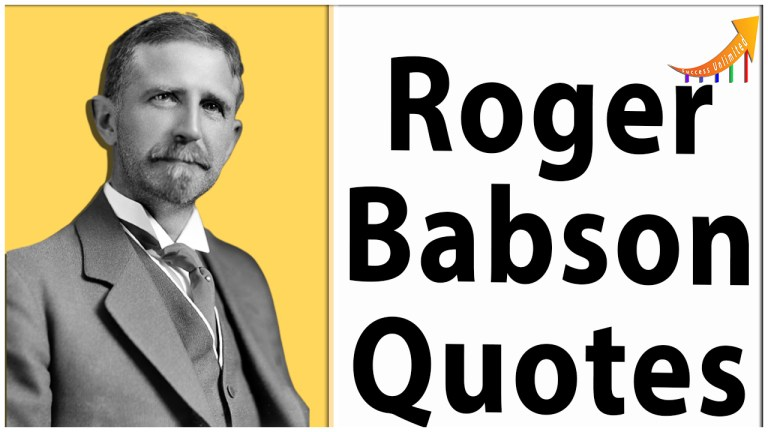 Roger Babson quotes