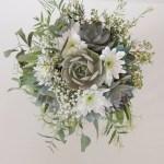 Succulent Bouquet Pink Gray Sage