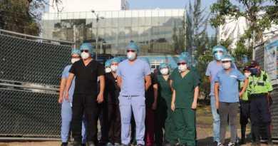 Médicos se manifiestan por falta de insumos en el Hospital de Villa Nueva