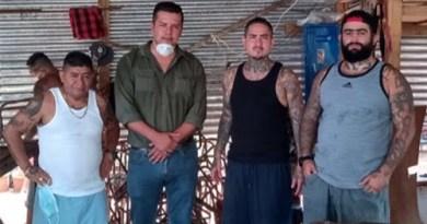 Lideres de la Mara 18 en prisión en una reunion con rank Stalyn