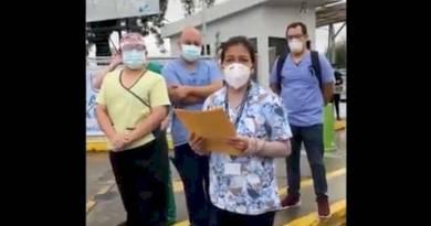 Médicos del parque de la industria exigen el pago de su salario