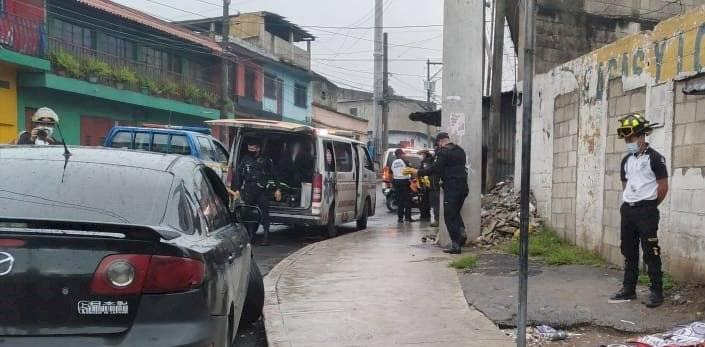 Escenas de un ataque armado en la colonia maya de la zona 18