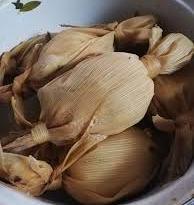 Fotografia de unos deliciosos tamalitos blancos guatemaltecos