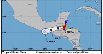 huracán nana ingresando a territorio guatemalteco