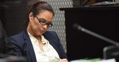 ex-vicepresidanta de Guatemala Roxana Baldetti en un juicio por corrupción